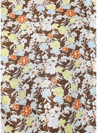 Tory Burch Tory Burch 101624052 52X52 Cm Lucky Meadow ÇiÇek Desenli Çok Renkli Kadın Twill İpek Fular Renkli